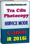 Service Mode Photocopy Canon iR 2016i - Tiếng Việt