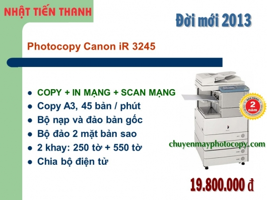 May Photocopy Canon iR 3245 gia re