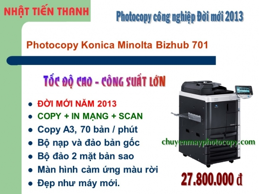 May Photocopy Konica Minolta Bizhub 701 gia re