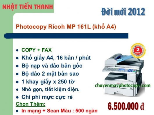 May Photocopy Ricoh MP 161L gia re