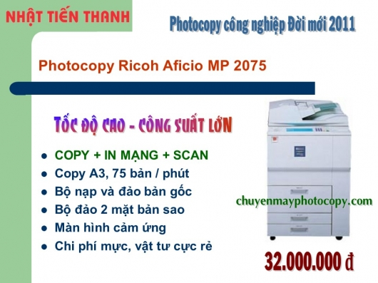 May Photocopy Ricoh MP 2075 gia re
