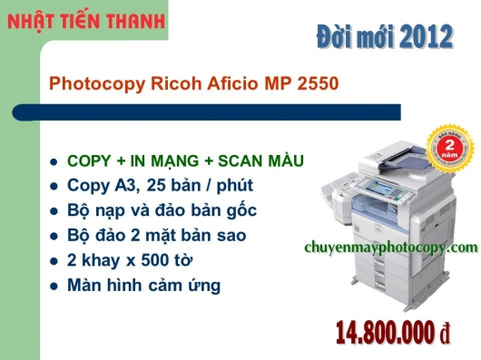 May Photocopy Ricoh MP 2550 gia re