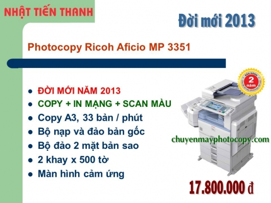 May Photocopy Ricoh MP 3351 gia re