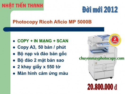 May Photocopy Ricoh MP 5000B gia re