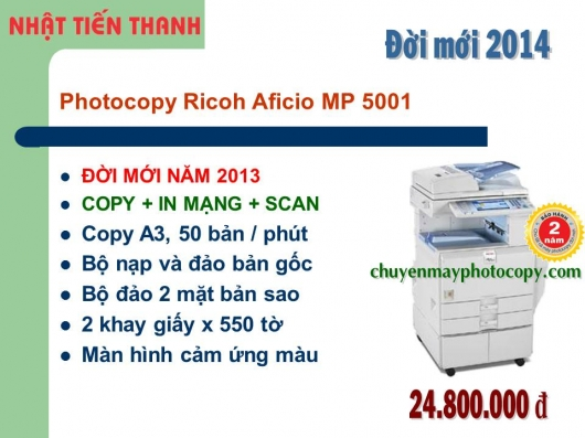May Photocopy Ricoh MP 5001 gia re