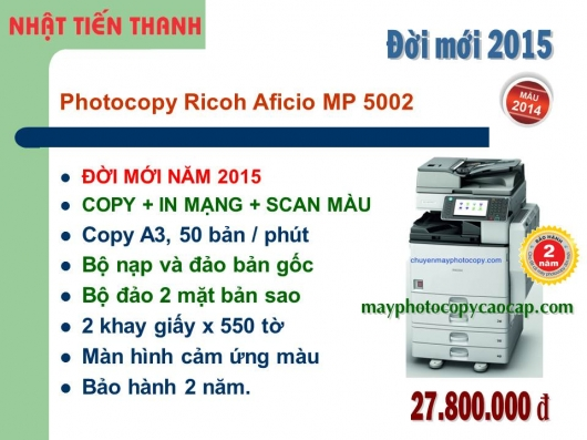 May Photocopy Ricoh MP 5002 gia re