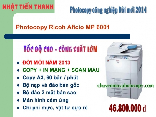 May Photocopy Ricoh MP 6001 gia re
