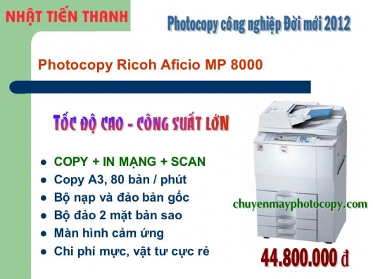 May Photocopy Ricoh MP 8000 gia re