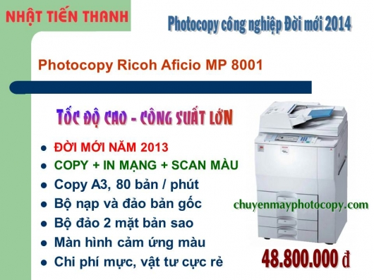 May Photocopy Ricoh MP 8001 gia re