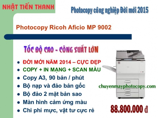 May Photocopy Ricoh MP 9002 gia re