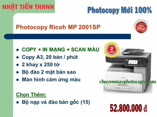 May Photocopy Ricoh Aficio MP 2001sp