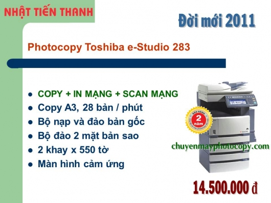 May Photocopy Toshiba e-Studio 283 gia re