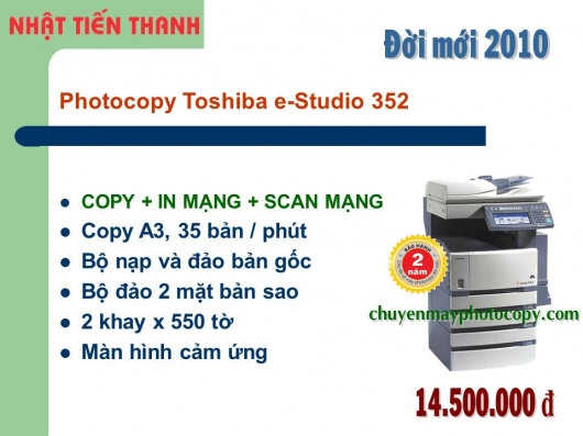 May Photocopy Toshiba e-Studio 352 gia re