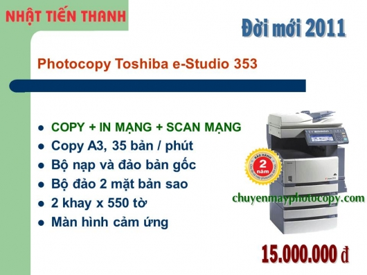 May Photocopy Toshiba e-Studio 353 gia re