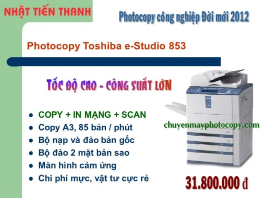 May Photocopy Toshiba e 853 gia re