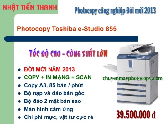 May Photocopy Toshiba e 855 gia re